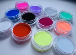 Set 12 pudra acril color