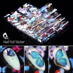 Folie de transfer M729 fluture alb – set 10 buc