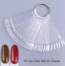 Paletar 50 tipsuri de prezentare Oval Clear