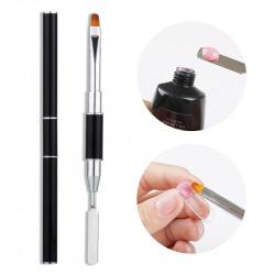 Pensula cu spatula pentru aplicarea polygelului