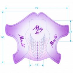 Sabloane Mollylac Purple Plastifiate - 100 Bucati