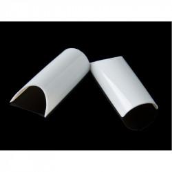 Tipsuri unghii PIPE albe - 100 bucati