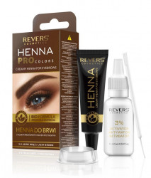 Vopsea sprancene Henna PRO Colors by REVERS, 2.0 light brown
