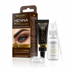 Vopsea sprancene Henna PRO Colors by REVERS, 3.0 dark brown