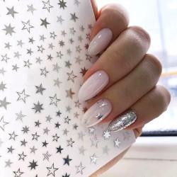 Decor unghii 361 silver stars