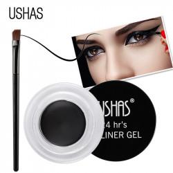 Eyeliner gel Negru + pensulă de aplicare Ushas
