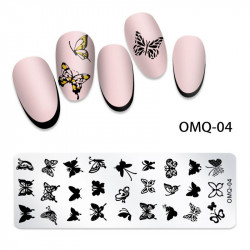MATRITA METALICA NAIL ART - OMQ-04