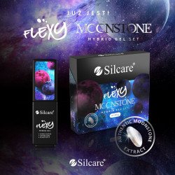 SET 4 Oje Semipermanentea Flexy Hybrid Gel Silcare 4.5g MOONSTONE