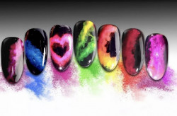 Set 4 Pigmenti neon rainbow smoke effect