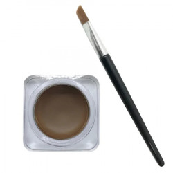 Gel Contur de Ochi / Sprancene cu Pensula Ultra-Rezistent Ushas Creamy Gel Eyeliner, 4 g, 02, dark brown