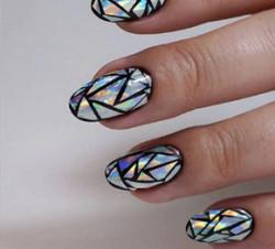 Paiete Glass Effect silver cu reflexii