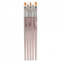 Pensule rose gold 5 set