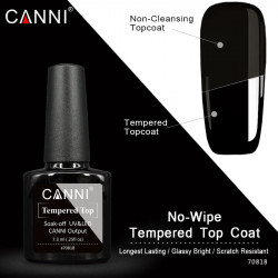 Top Coat Canni No-Wipe Tempered 7.3 ml ( fara degresare)