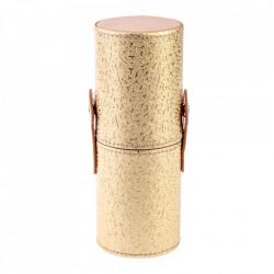 Tub depozitare pensule machiaj, auriu, 18 cm x 7 cm