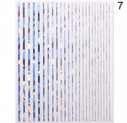Banda decor argintie dreapta cu reflexii