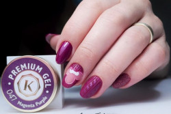 Gel color premium UV/LED Kayara 047 Magenta Purple