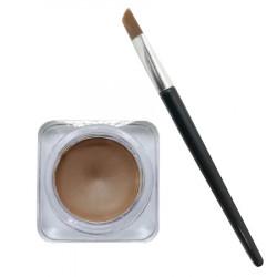 Gel Contur de Ochi / Sprancene cu Pensula Ultra-Rezistent Ushas Creamy Gel Eyeliner, 4 g, 04, light brown