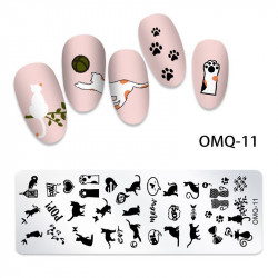 MATRITA METALICA NAIL ART - OMQ-11
