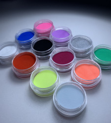 Pudra Acrilica color - SET 12 BUCATI