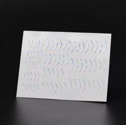Banda decor argintie cu reflexii