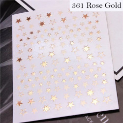 Decor unghii gold rose stars