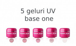 Set Gel UV Constructie Base One 15g – 5 Bucati