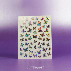 Decor unghii Holografic Butterfly 04