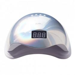 Lampa LED SUN 5 cu afisaj digital - 48 W - SILVER HOLO