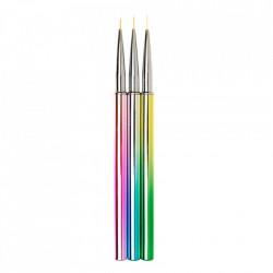 SET 3 pensule pentru pictura rainbow