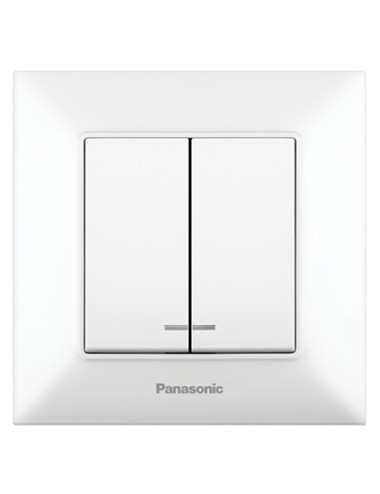 Csillárkapcsoló led-el 10A-val, IP20, fehér, Panasonic Arkedia Slim