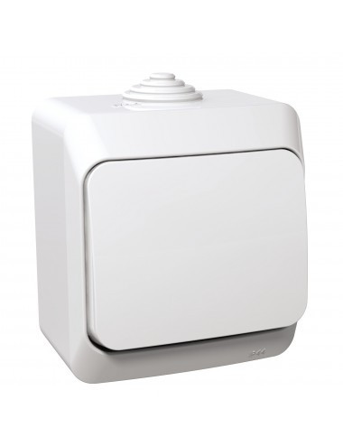Egypólusú kapcsoló, IP44, fehér, Schneider Cedar