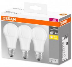 3 db LED-izzó készlet Osram, E27, 14W (100W), 1521 lm, A +, meleg fény (2700K)