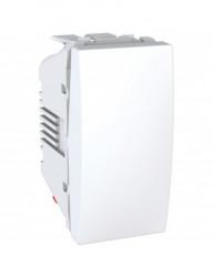 Alternativ kapcsoló, 1 modul, 10A, fehér, Schneider Unica