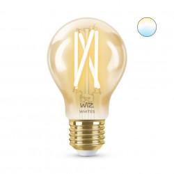 Bec LED smart vintage WiZ, auriu, forma A60, Wi-Fi, dulie E27, 6.7W (60W), 806 lm, temperatura lumina reglabila (2000K-5000K), compatibil Google Assistant/Alexa/Siri