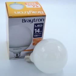 Gömb alakú led izzó, G95, 14W, Braytron, meleg fény