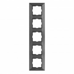 Sorolókeret 5 modul, függőleges, IP20, grafit, Panasonic Arkedia Slim