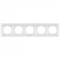 Sorolókeret 5 modul, vízszintes, Arkedia Panasonic, fehér