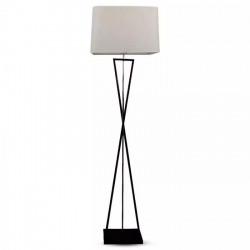 Szögletes kivitelű állólámpa, fekete + elefántcsont színű, E27 foglalat (max60W), V-TAC