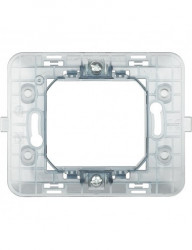 Váz 2 modul, középre szerelt, műanyag, IP20, Bticino Matix