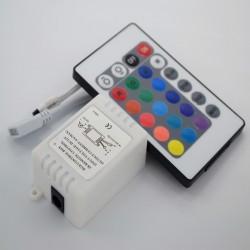 Vékony vezérlő, 24 gomb, RGB 6A 72W led szalag