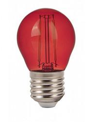 Vintage dekoratív led izzó, E27, G45, 2W (10W), A +, piros, V-TAC