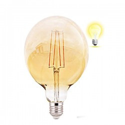 Vintage Edison LED izzó 4W G125, Braytron