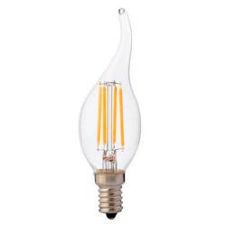 Vintage LED izzó 6w (48W), átlátszó, láng alakú 700Lm, meleg fény (4200k), Horoz Electric