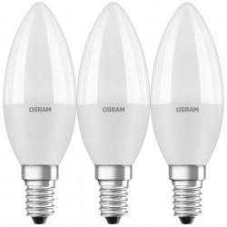 3 db Osram LED-izzó készlet, E14, 7.5 W (60 W), 806 lm, A +, hideg fény (6500K)