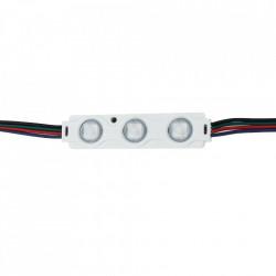 3 LED modul 0,72 W, 12 V, IP65, RGB fény, 70x16mm, Optionica