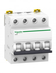 Automatikus kismegszakító 4P, 32A, C kiváltási görbe, szakító kapacitás 6kA, Schneider