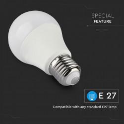 Intelligens LED izzó, E27, 11 W (75 W), 1055 lm, többszínű, kompatibilis a Google Home és az Alexa készülékkel, V-TAC