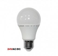 LED izzó 24V E27, 8W (55W), 4000K, 800lm, A +, Lumen