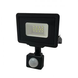 LED projektor 10W érzékelővel, 800 lm, hideg fény, fekete, Optonica