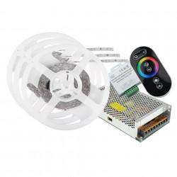 LED szalag készlet 5050 IP20 RGB 60 LED / méter 20 méter + tápegység + érintésvezérlő